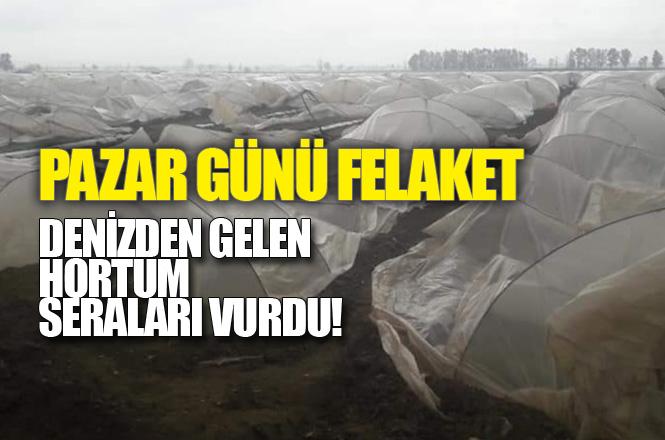 Mersin Tarsus'ta Yaşanan Hortum Felaketinde Seralar Zarar Gördü