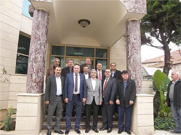 Taşkın ve Özkan, Ziraat Odası Başkanı Veyis Avcı'yı Ziyaret Etti