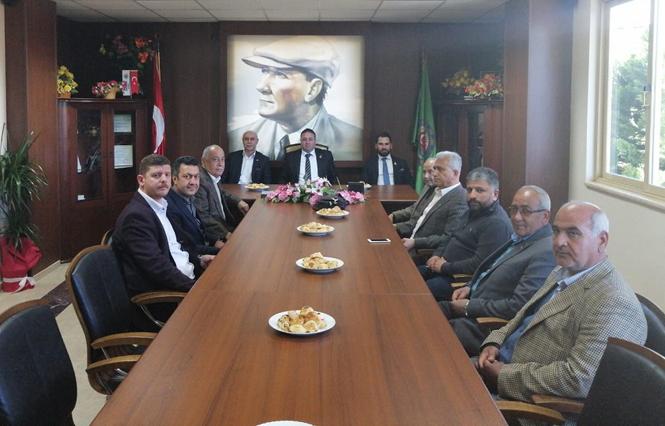 Tarsus Ticaret Borsası Heyetinden, Yeni Göreve Gelen Tarsus Ziraat Odası Yönetimine Ziyaret