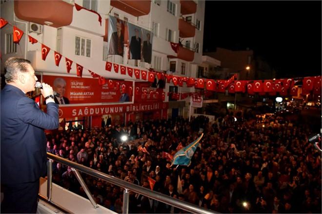 Başkan Tuna, Silifke'de Coşkuyla Karşılandı