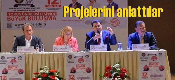 Mersin Büyükşehir Belediye Başkanları Ayfer Yılmaz, Vahap Seçer ve Hamit Tuna Projelerini Anlattı
