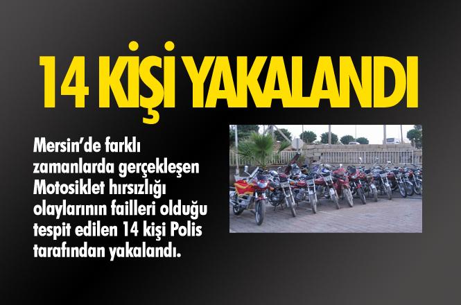 Mersin'de Motosiklet Hırsızları Yakalandı