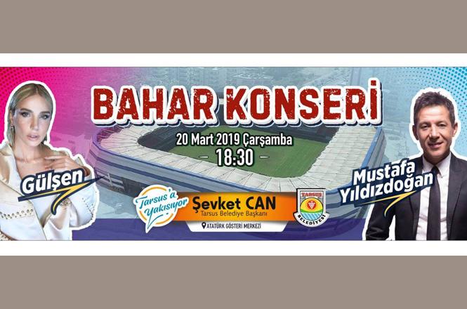 Sanatçılar Gülşen ve Mustafa Yıldızdoğan 20 Mart'taki Bahar Konserinde Tarsus'ta Olacak