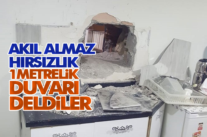 Hırsızlar, Mersin Tarsus Yarenlik Alanındaki İletişim Dükkanına, 1 Metre Kalınlığındaki Duvarı Kırıp Girdi
