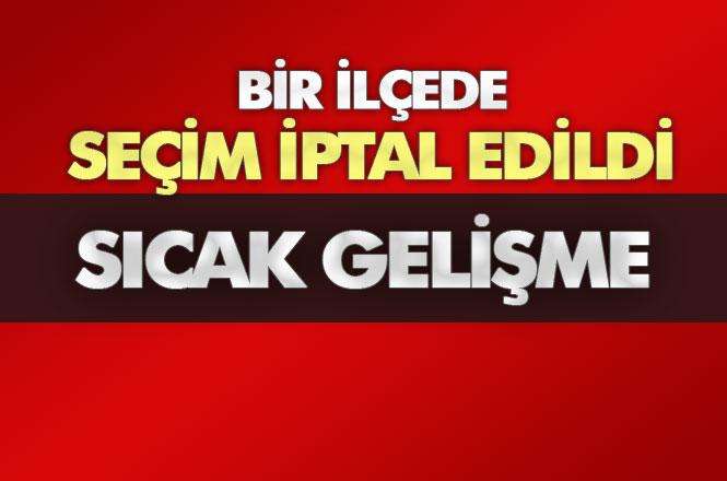 Mersin Gülnar'da Seçim İptal Edildi