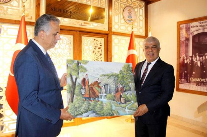 Silifke Belediye Başkanı Mücahit Aktan'dan Kaymakam Şevket Cinbir'e Ziyaret