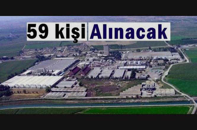 Mersin Tarsus Yenice'de İhale İle ; 59 Kişi İşe Alınacak