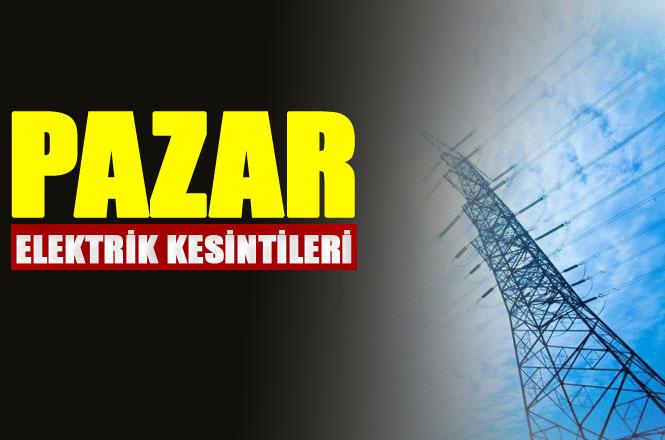Mersin Elektrik Kesintisi 21 Nisan 2019 Pazar Günü