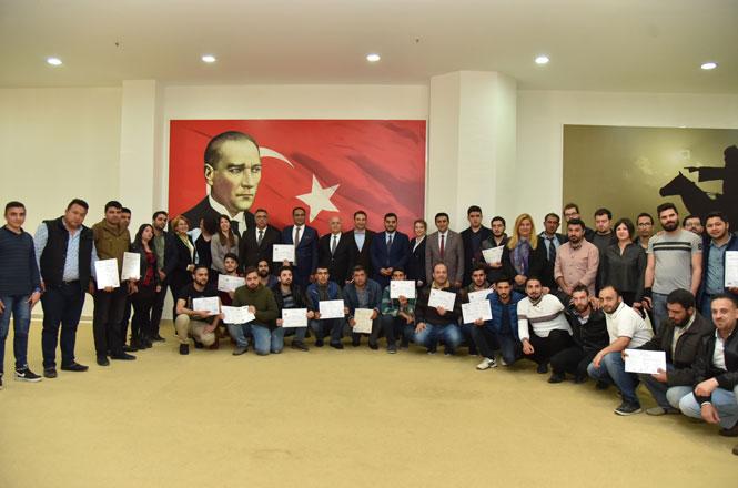 TAMEB Projesinde Eğitim Alan Kursiyerlere Sertifikaları Verildi