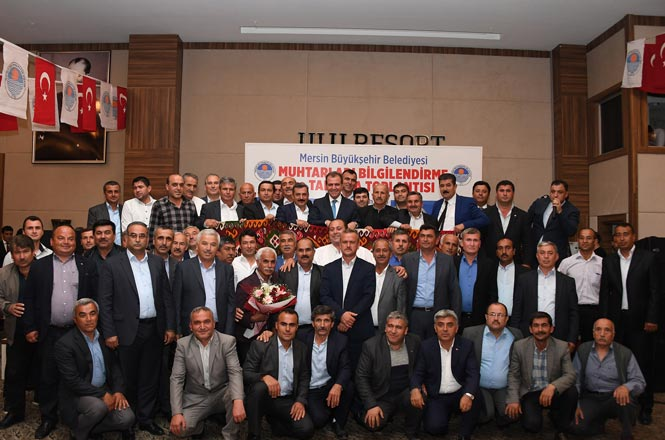 """Mersin Büyükşehir Belediye Başkanı Seçer Muhtarlarla Bir Araya Geldi: """"805 Muhtarım Benim Başımın Tacıdır"""""""