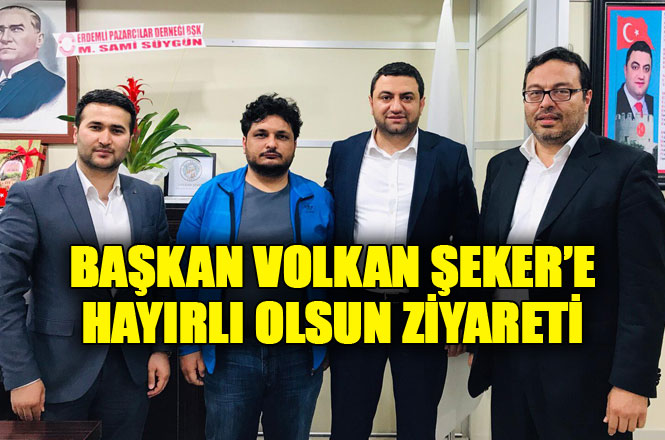 Mersin Haber ve Mersin Blok Haber'den Mut Belediye Başkanı Volkan Şeker'e Ziyaret