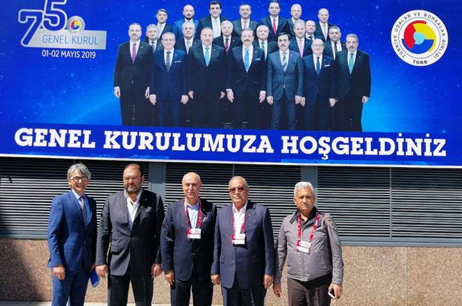 Tarsus Ticaret Borsası Türkiye Odalar ve Borsalar Birliğinin (TOBB) 75. Mali Genel Kurulu İçin Ankara'daydı