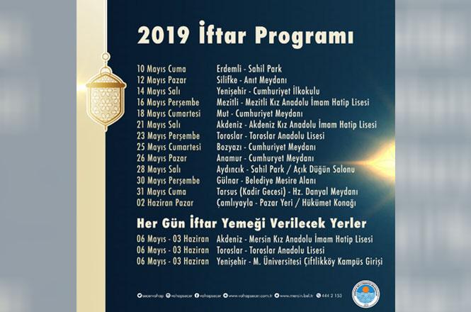 Mersin Büyükşehir Belediyesi Ramazan İftar Programı 2019