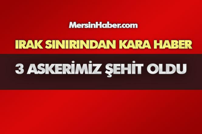 PKK/YPG'li Teröristler Tarafından Irak'ın Kuzeyinde Gerçekleştirilen Havan Saldırısı Sonucu 3 Askerimiz Şehit Oldu
