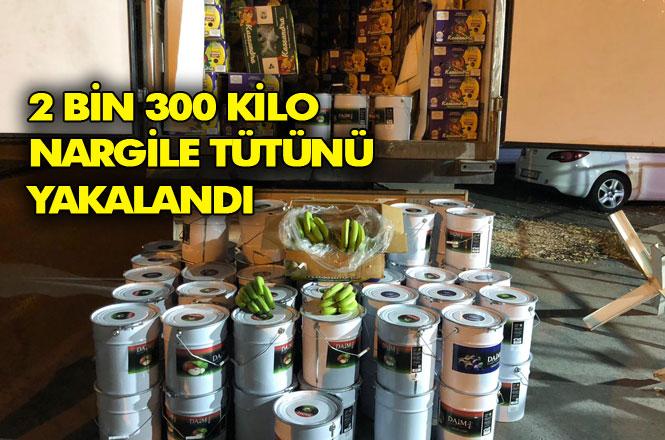 Mersin'de Muz Kolilerinin Arasından 2.3 Ton Gümrük Kaçağı Nargile Tütünü Çıktı