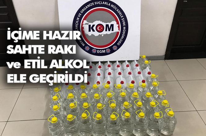 Mersin Akdeniz Gündoğdu Mahallesinde 215 Litre İçime Hazır Sahte Rakı Ele Geçirildi