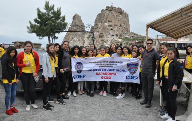 Bir Çocuk Bir Umut Projesi Kapsamında Mersinli Genç Kızlar Kapadokya Gezisine Gitti