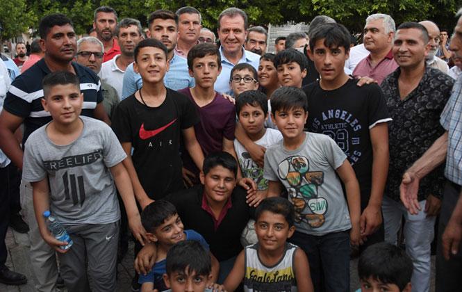 Çilek Mahallesi Başkan Seçer'i Sevgi Seli İle Karşıladı