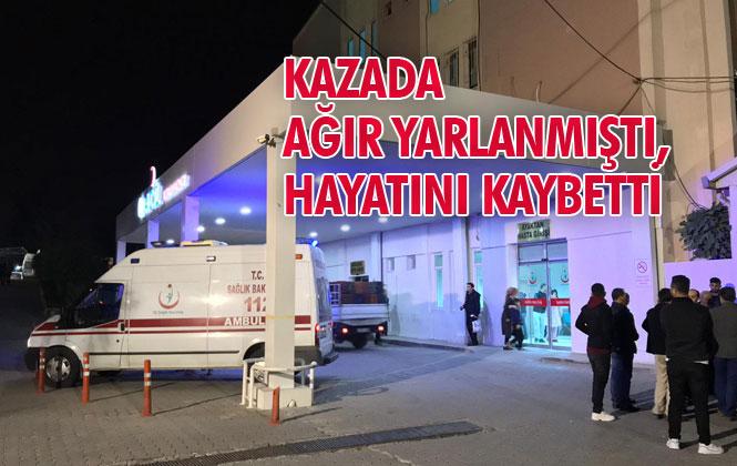 Mersin Tarsus'ta Gece Saatlerinde Meydana Gelen Kazada Ağır Yarlanan Ali Kaydeşen İsimli Şahıs Hayatını Kaybetti