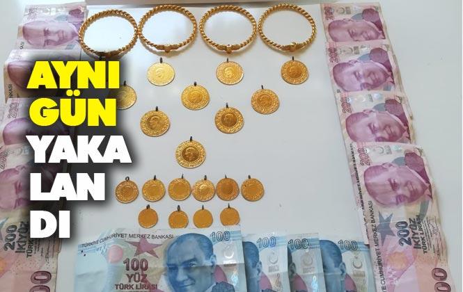 Mersin Erdemli'de Evden Çalınan Altınlar ve Nakit Parayı Çalan Hırsız Jandarmadan Kaçamadı