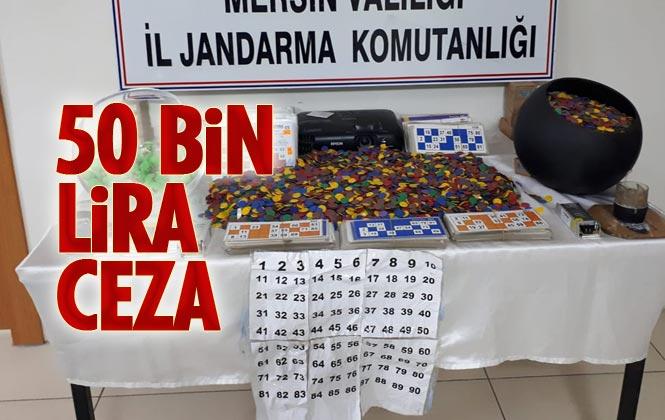 Mersin Tarsus Yenice'de Jandarma Tarafından Yapılan Baskında, Kumar Oynatanlara Ceza Yağdı