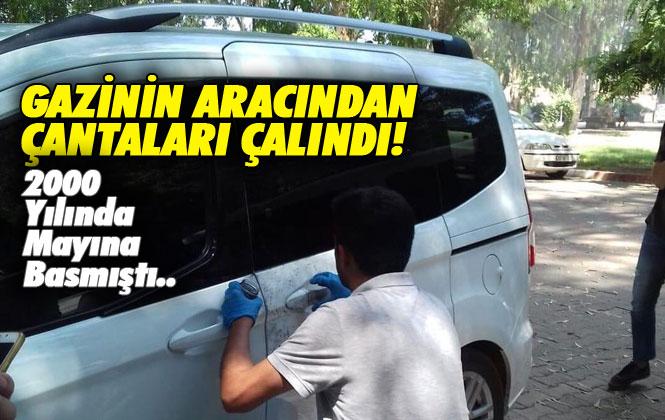 Terörle Mücadele Gazisi Tarsus'ta Hırsızların Mağduru Oldu, Tatile Gelen Gazinin Aracından Çantaları Çalındı