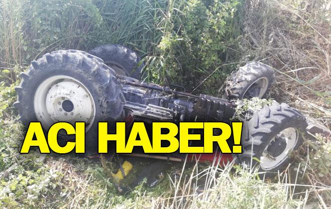 Mersin Tarsus Alifakı - Tuzla Yolunda Traktör Kazası! Yaşanan Kazada Duran Yıldız İsimli Çiftçi Hayatını Kaybetti