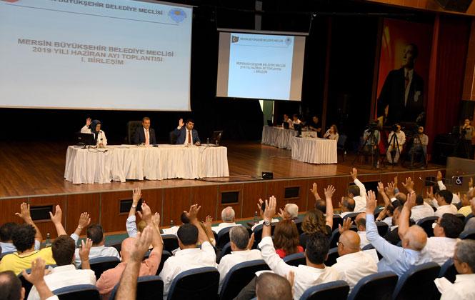 34 Maddenin Görüşüldüğü, Mersin Büyükşehir Belediye Meclisi Haziran Ayı Birinci Birleşimi Gerçekleştirildi