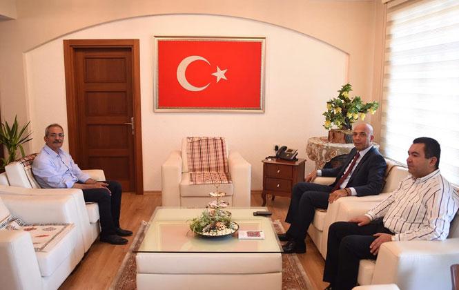 İl Emniyet Müdürü Şahne ve İlçe Emniyet Müdürü Ünal'dan Başkan Bozdoğan'a Ziyaret