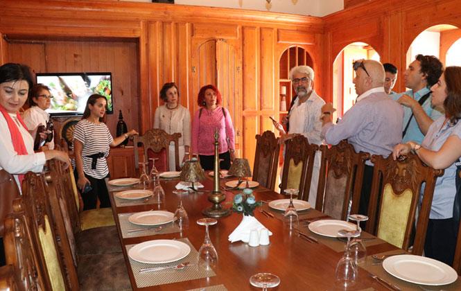 Mersin Gastronomi Müzesi İçin Hatay'da İnceleme Yapıldı, BelediyedenBir Heyet Hatay Gastronomi Evi'ni İnceledi