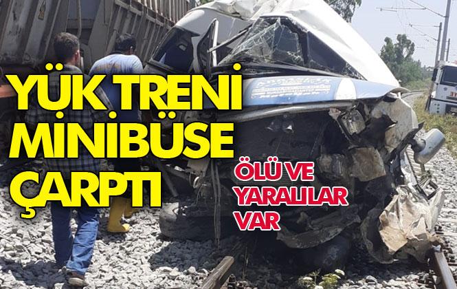 Mersin Tren Kazası; Mersin'in Tarsus İlçesi Yenice Mahallesinde Yük Treni Minibüse Çarptı, Kazada İlk Bilgilere Göre Kazada 1 Kişi Öldü, 2'si Ağır 4 Yaralandı