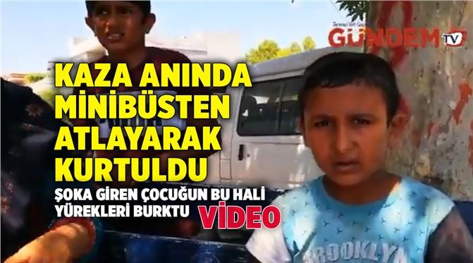 Mersin Tarsus Yenice'de Yaşanan Tren Kazasında Minibüsten Atlayarak Kurtuldu!
