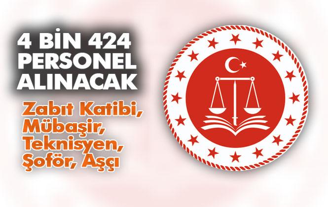 Adalet Bakanlığına 4 Bin 424 Personel Alımı; Uygulamalı ve Sözlü Sınavla Binlerce Alım Yapılacak
