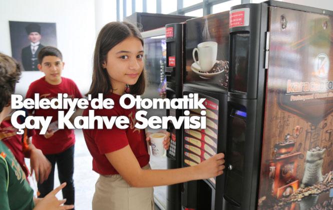 Geçtiğimiz Aylarda Yeni Hizmet Binasına Taşınan Mezitli Belediyesi'de, Otomatik Çay Kahve Servisi