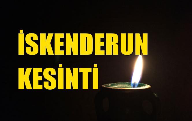 Hatay İskenderun Elektrik Kesintisi 08 Temmuz Pazartesi