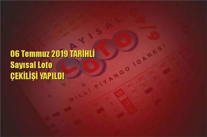 Sayısal Loto Sonuçları 06 Temmuz 2019 Tarihli Kazandıran Sayılar