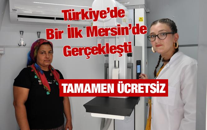 Tarsus'ta Ücretsiz Mobil Mamografi Aracı Görevine Başladı