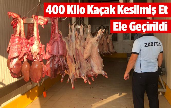 Mersin Tarsus'ta 406 Kilo Kaçak Kesilmiş Et Ele Geçirildi