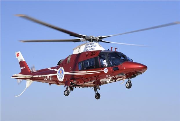 Mersin'de Hava Taksi Olarak Hizmet Vermeye Başlayan Helikoptere Talep Her Geçen Gün Artıyor.