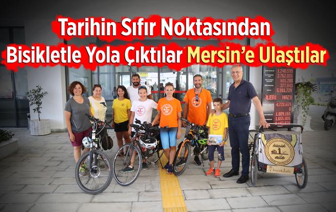 Bisikletleriyle Bin 300 Km Yol Yapan Küçük 1 Aile Mersin'e Ulaştı