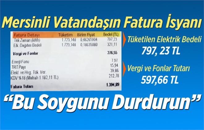 Mersin'de Elektrik Faturaları Vatandaşı Çarpıyor