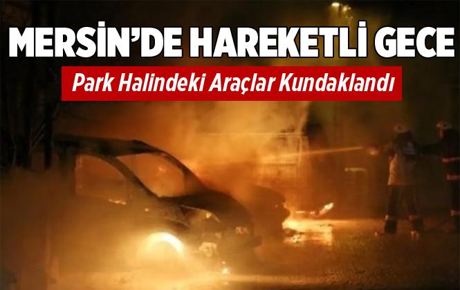 Mersin Bozyazı'da Park Halindeki 4 Araç Kundaklandı