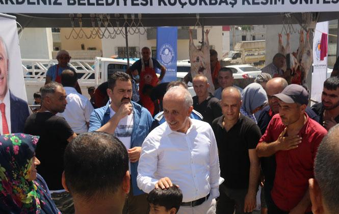 Akdeniz Belediye Başkanı Gültak; Kurban Kesim Yerlerini Ziyaret Etti, Vatandaşlarla Bayramlaştı