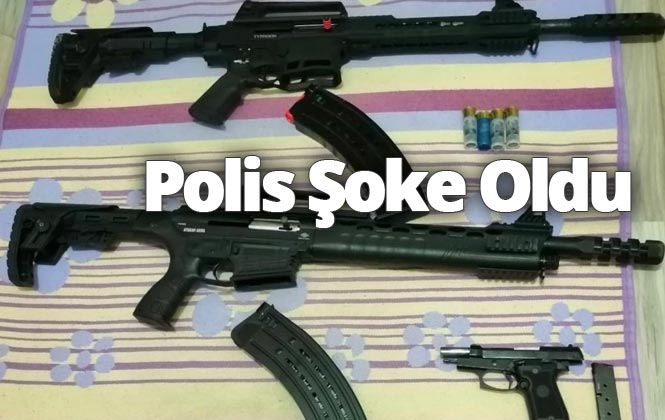 Mersin Tarsus'ta Silah Sıkılan Eve Operasyon Yapan Polis Şoke Oldu: 2 Tüfek ve Tabanca Ele Geçirildi