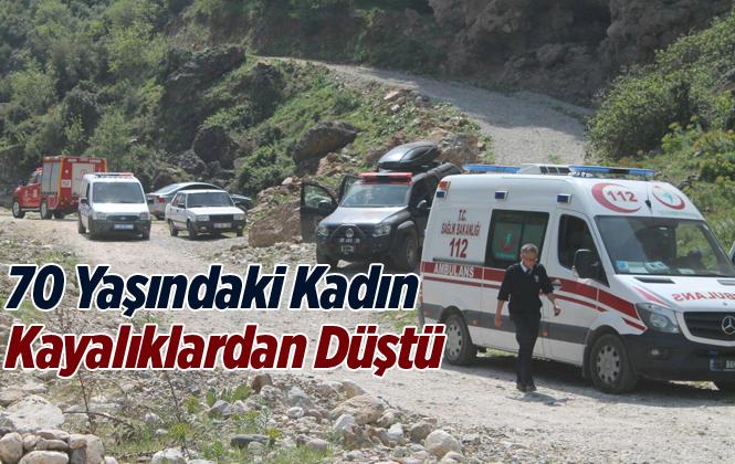 Mersin'de Kayalıklardan Düşen Yaşlı Kadın Ağır Yaralandı