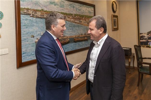 Vodafone Türkiye'nin Ceo'su ve İcra Kurulu Başkanı Colman Deegan Başkan Seçer'e Ziyaret