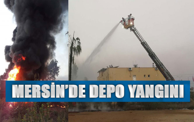 Mersin Anamur Sanayi Sitesindeki Bir Depoda Çıkan Yangında, 30 Bin Çilek Kasası Yandı