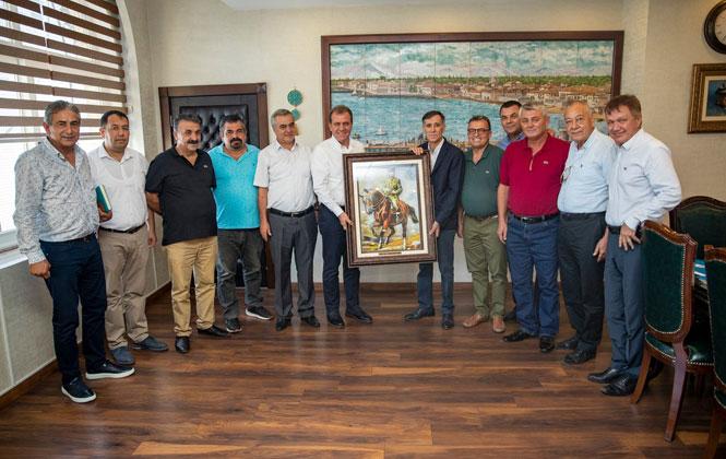 Erdemli Ticaret Odası Başkanı Orhan Sarı ve Yönetim Kurulu Üyelerinden, Başkan Seçer'e Ziyaret