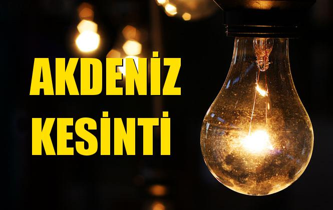 Akdeniz Elektrik Kesintisi 16 Eylül Pazartesi