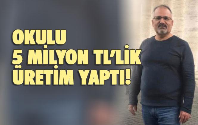 Çalışkan Müdür Erhan Bozkurt Yeni Okulunda! Meslek Lisesi Fabrika Gibi Çalışıyor